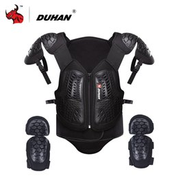 $enCountryForm.capitalKeyWord Australia - DUHAN Motorcycle Armor Waistcoat Motorcycle Riding Protection Jacket Vest Chest Protective Gear Elbow Pads Jacket