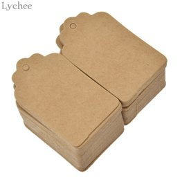 Discount hung book - Lychee 100 pcs Square Blank Tag Paper Card Label Hang Tag for Book Note Bookmark Dairy DIY Handmade Decoration