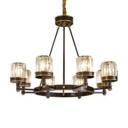 Regron Country Chandeliers Luminary E14 Led Glass Chandelier Lamp Korea Style Natural Retro Hanging Lamp Fixtures Leuchter Villa Ceiling Lights & Fans