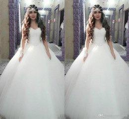 $enCountryForm.capitalKeyWord Australia - 2019 Elegant Princess Sweetheart Sleeveless Floor Length Bridal Dresses Fashion Middle East Wedding Gowns