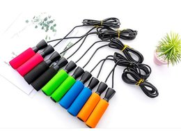 Wholesale 100PCS Aerobic Exercise Boxing Skipping Jump Ropes Adjustable Bearing Speed Fitness rope Black Blue Green Red color fast shipment