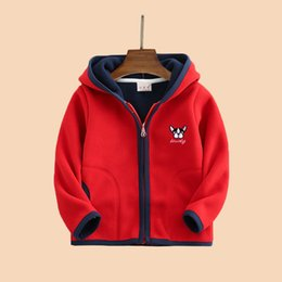 Wholesale kid clothes with hoodies spring new fleece children coats for boys and girls thin sports loose style children jackets