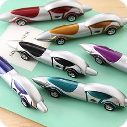 $enCountryForm.capitalKeyWord Australia - Cute Novelty Cartoon Car Ballpoint Pen Plastic Cool Ball Pen Blue Ink 1.0mm for Kids Boys Writing Gift Toys School Supplies Stationery