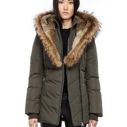 Wholesale nylon jacket hood for sale – winter real fur Women s Down jacket Winter Mac Kayf F4 FitterI Down Parkas Brand Real Fur Collar White Duck Outerwear Coats for Women Fur Hood
