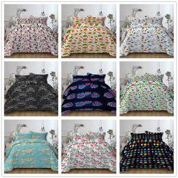 $enCountryForm.capitalKeyWord Australia - 2019 new Bedding Set Single Double King Size 2 3pcs with pillowcase Duvet Cover Set with Diverse cartoon pattern for kids of set