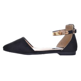 $enCountryForm.capitalKeyWord UK - Sandals Top Krean Style Ankle Strap Fashion Flat with Women's Shoes Pointed Toe Sandals Plus Size 34-42 XWZ2124