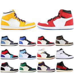 $enCountryForm.capitalKeyWord Australia - Hot Sale Obsidian Travis Scotts High OG GYM RED 1 Basketball shoes Spiderman UNC 1s top 3 Phantom Mens Trainers Sports Designer Sneakers