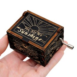 ceramic games NZ - Happy Valentines Day Music Box Gift Antique Carved Wooden Hand Crank Queen Music Box Game Of Throne Dragon Ball Anonymity Decor