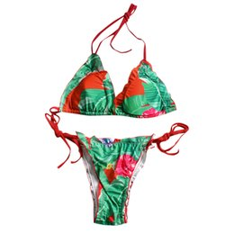 $enCountryForm.capitalKeyWord UK - Sexy Women Bikini Set Printing Bandage Floral Brazilian Swimwear Summer Backless Beachwear Thong 2019 Fashion Swimsuit #YL5