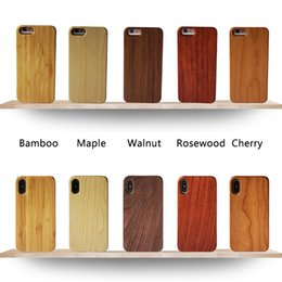 $enCountryForm.capitalKeyWord Australia - Eco-friendly Natural Wood Bamboo Cell Phone Cases Lightweight PC Snap-on Bumper Cases Slim Hybrid Back Covers for iPhone and Samsung Galaxy