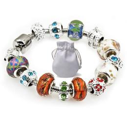 224df8e0f Luxury Designer Women Charm Bracelets Fit Pandora White Brown Crystal Glass  Beads Silver Rhinestone Royal Crown Bracelets Jewelry P100