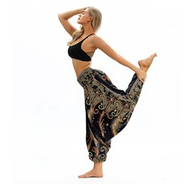 $enCountryForm.capitalKeyWord Australia - 16 Color Sport Women Casual Loose Yoga Pants Trousers Baggy Boho Aladdin Jumpsuit Harem Pants High Waist sport #30