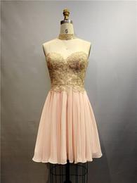 Ingrosso Abiti corti sexy abiti da ballo prom dresses top in rilievo 50D abiti da cocktail in chiffon in magazzino
