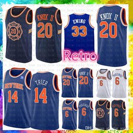 2bb8e1e93 Patrick 33 Ewing Cheap Sale New York Jersey Knicks Kevin 20 Knox II Allonzo  14 Trier Basketball Jerseys 2019 New The City Mesh Retro