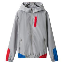 Full Zip Jacket Polyester Australia - Asstseries Color Block Patchwork Windbreaker Hooded Jackets Men Hip Hop Full Zip Up Pullover Tracksuit Jacket Fashion Streetwear