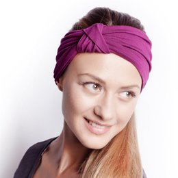 Wholesale Vintage Modern Style Elastic Women Turban Headbands Twisted Cute Hair Band Accessories Yoga Fashion Workout Running Athletic Travel