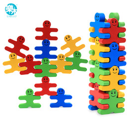 $enCountryForm.capitalKeyWord Australia - Baby Wooden Toys Blocks Balance Game Building Block Early Educational Brick Toys Table Game Toys For Children Play With Friend MX190730