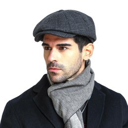 british gentleman hat NZ - 2019 European and American fashion men's berets autumn and winter British style solid color painter hat