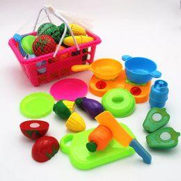 $enCountryForm.capitalKeyWord Australia - wholesale 8-22Pcs Set Plastic Fruit Vegetables Cutting Toy Early Development and Education Toy for Baby - Color Random