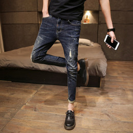 0da1ee068133 Matching Men skinny jeans online shopping - High Quality Jeans Men Clothes  Streetwear Slim Fit Skinny