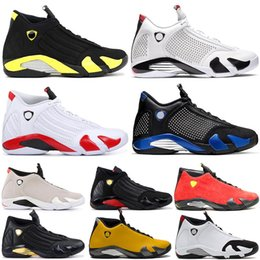 $enCountryForm.capitalKeyWord Australia - Hot Mens Jumpman 14s Shoes 14 XIV Suede Trainers Thunder SPM Black Blue Candy Cane White Desert Sand LAST SHOT Men Sneakers 7-13