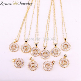 Necklaces Pendants Australia - 10 Strands Zyz184-8497 Micro Pave Cz Small A To Z 26 Letter Pendant Alphabet Letters Necklace J190615