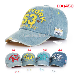$enCountryForm.capitalKeyWord Australia - Brand New High Quality 2019 Kids Baseball Caps Baby Has & Caps Fashion Letter Jean Denim Cap Baby Boys Girls Sun Caps for