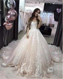 tube lace wedding dresses Australia - Low Price Formal lace Fabric off the Shoulder Wedding Dress with Trains USA Boob Tube Top Design Puff Ball Gown Wedding Dress