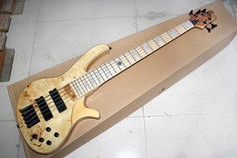 Maple guitar wood online shopping - Factory Custom Strings Natural Wood Color Electric Bass Guitar Black Hardwares Maple Fingerboars Offer Customized
