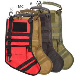 Sock Packs Australia - 2018 Tactical Molle Christmas Stocking Bag Dump Drop Pouch Utility Storage Bag Military Combat Hunting Christmas Socks Gift Pack #234564