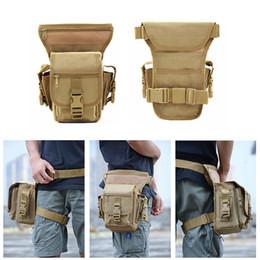 Discount tool leg bag - Wholesale outdoor sports pockets tactical army waist leg bag climbing hiking fishing leg bag tool belt