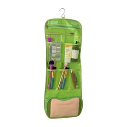 women man portable foldable travel Cosmetic case hanging toiletry bags  bathroom storage bag organizer make up bag 3a31edac84072