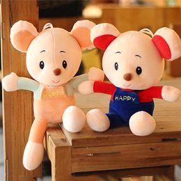 $enCountryForm.capitalKeyWord Australia - 20170619 Hot Sale 35cm Cute Mouse Colorful Plush Toy Beautiful Doll Stuffed Animal Children Brithday Gift