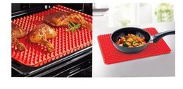 silicone mats wholesale NZ - Wholesale- Red Pyramid Bakeware Pan Nonstick Silicone Baking Mats Pads Moulds Cooking Mat Oven Baking Tray Sheet Kitchen Tools