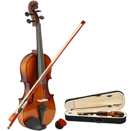 New Professional 1 2 Size Natural Color Acoustic Violin with Case + Bow + Rosin for Beginner and Violin Lovers on Sale