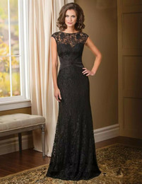 Best Red Party Dresses Australia - Best Selling Floor Length Backless Sheath Vintage Mother of the Bride Dress 2019 Short Sleeve Black Lace Formal Wedding Party Gowns Beads