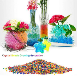 Wholesale 10000 Water Beads Ball Flower Vase Crystal Soil Mud Home Living Room Decoration Accessories DEC530
