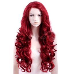 $enCountryForm.capitalKeyWord NZ - Sexy Burgundy Heat-resistant Fiber Curly Woman's Long Halloween Wig Hair NO LACE