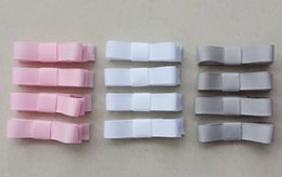 Color Alligator Hair Clips Australia - 40pcs Girl 2inch mini Hair Bow clip accessories with all wrapped Ribbon Lined Alligator clip Hairpin headwear FJ3213