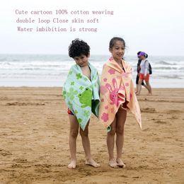 Children Towel Blanket Australia - Kids Bath Towel 120*60CM Children Beach Towel Cotton Infant Shower Blanket Kids Summer Swimming Towel 5 Pieces DHL