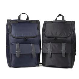 Backpack Canvas Bag Laptop UK - Fashion travel backpack durable canvas laptop carrying school bag men women shoulder bag black deep blue