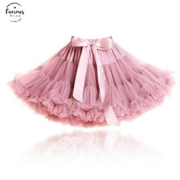 Wholesale black knee length petticoat skirt resale online - Tutu Womens Fluffy Chiffon Pettiskirts Tulle Skirt Party Dance Tutu Skirt Women Lolita Petticoat Womens Dusty Rose Pink Skirt