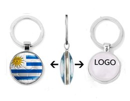 free cartoon logos Australia - Creative Designer Keychain World Cup 32 Key Chain Football Flag Time Gem Key Ring Car Pendant Custom logo Wholesale free shipping