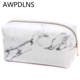 gifts for year old girls 2019 - Marble PU Student Pencil Case Large Capacity Pen Box Makeup Storage Pocket Bag School Stationery Supplies Girls Pouch Fo
