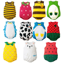 5b73b74bad3 11 styles Baby clothes summer infant print romper clothes watermelon fruit  bee children s boys girls cute clothing