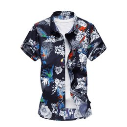 6686f2dd45 20 Styles Summer Shirt Men Short Sleeve Men's Floral Shirts Hawaii Casual  Male Flower Print Beach Holiday Camisa 6xl 7xl Q190514