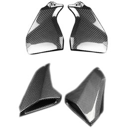 motorcycle fiber fairings Canada - Motorcycle Carbon Fiber Gas Tank Side Tank Side Fairings Air Intake Cover for MT-09 MT 09 MT09 FZ-09 FZ09 2013-2016