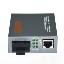 Optical Fiber Power Australia - HTB-GS-03 Optical Fiber Media Converter Gigabit 1000Mbps Single Mode Duplex SC Port 20KM External Power Supply