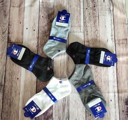Mens short suMMer socks online shopping - Brand Champion Short Socks Women Mens Designer Ankle Socks Anklet Low Cut Crew Sock Slippers Sports Socks Boat Sock Sneaker Stockings C61305