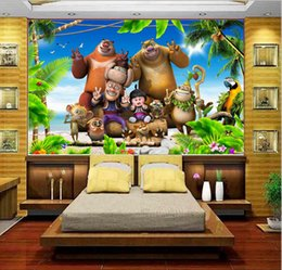forest backdrops 2021 - custom size 3d photo wallpaper living room kids room island cartoon animal forest picture sofa TV backdrop wallpaper mural non-woven sticker